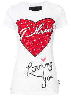 футболка с сердцем Philipp Plein