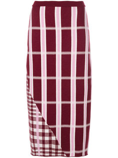 клетчатая юбка Victoria Beckham