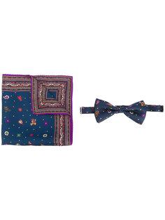 набор из шарфа и бабочки с принтом Etro