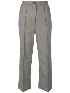 укороченные брюки с узором в ломаную клетку Erika Cavallini