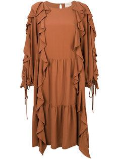драпированное платье с оборками Erika Cavallini