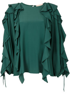 драпированная блузка с оборками Erika Cavallini