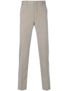 твидовые брюки с ломаной клеткой MSGM