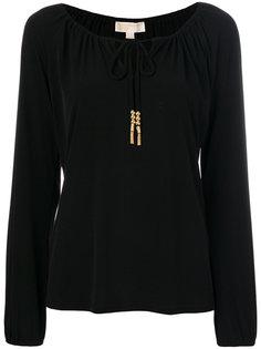 блузка со сборкой Michael Michael Kors