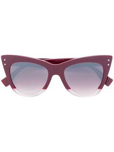"""солнцезащитные очки с оправой """"кошачий глаз"""" Fendi Eyewear"""