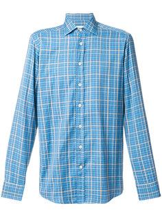рубашка с мелким узором в ломаную клетку Etro