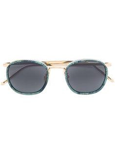 солнцезащитные очки с цветочным принтом Linda Farrow