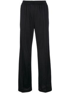 трикотажные брюки с полосками и логотипом  MSGM