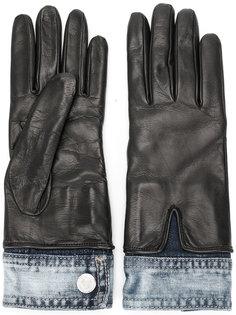 перчатки с джинсовыми элементами Dsquared2