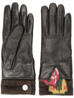 перчатки с заплатками Dsquared2