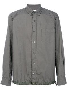 рубашка с присборенным подолом Sacai