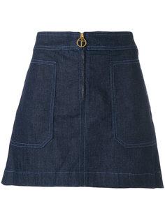 джинсовая юбка Elise Tory Burch