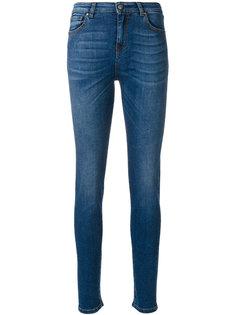 выбеленные джинсы скинни  Fay