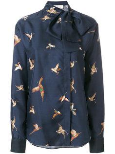 юбка с принтом птиц  Mulberry