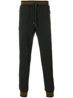 спортивные брюки с отделкой металлик Dolce & Gabbana