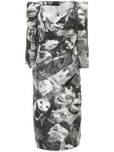 приталенное платье с принтом  Vivienne Westwood