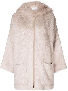 пальто с капюшоном Agnona