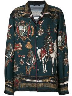 рубашка с принтом в стиле милитари Dolce & Gabbana