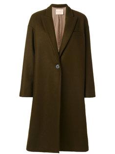 пальто с лацканами и V-образным вырезом  Erika Cavallini
