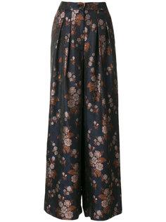 широкие брюки с цветочным принтом Erika Cavallini