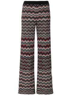 расклешенные брюки с узором зигзаг Missoni