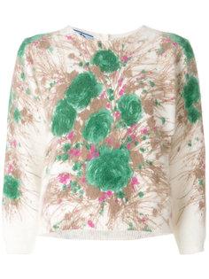 свитер с абстрактным цветочным узором  Prada