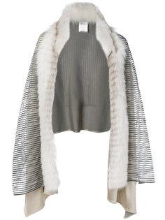 шарф с меховой оторочкой Guy Laroche Vintage
