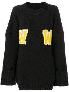свободный свитер WW Off-White