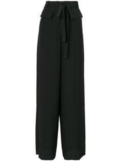 широкие брюки с завязкой на талии Valentino