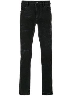 """джинсы """"скинни"""" с эффектом потертости Dolce & Gabbana"""