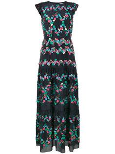 многоуровневое платье с вышивкой Peter Pilotto