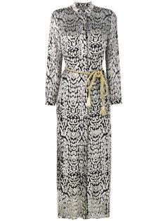 длинное платье-рубашка с леопардовым принтом  Adam Lippes