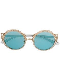 солнцезащитные очки с оправой в стиле барокко Dolce & Gabbana Eyewear