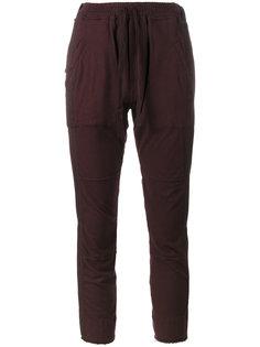 укороченные спортивные брюки со вставками  Haider Ackermann