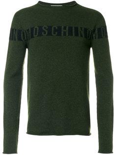 свитер с логотипом Moschino