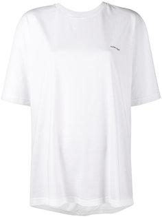 футболка-кокон с логотипом Balenciaga