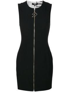 платье мини с молнией  Versus