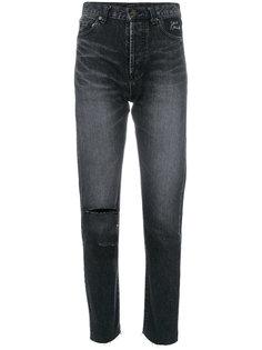 выбеленные джинсы кроя скинни Saint Laurent