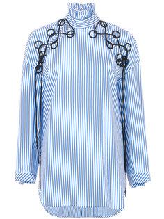 рубашка в полоску с вышивкой  Ellery