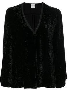 бархатная блузка с V-образным вырезом Forte Forte