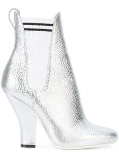 ботинки с носком металлик Fendi