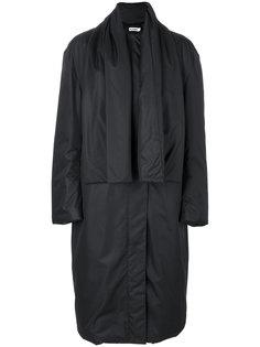 свободное пальто с шарфом  Jil Sander