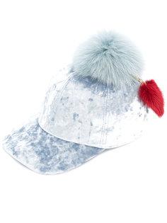 шапка с меховым помпоном Federica Moretti