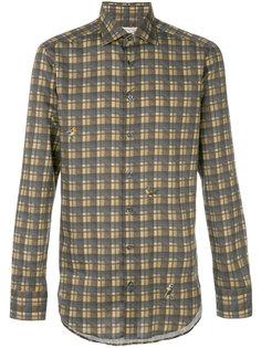 клетчатая рубашка классического кроя Etro