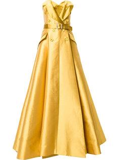 платье с деталью в виде жакета с ремнем Alexis Mabille