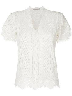 кружевная блузка с вырезом  Ermanno Scervino