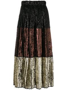 полосатая юбка с пайетками Nº21