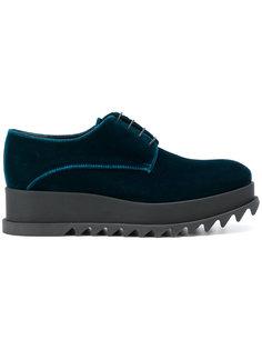 туфли на платформе со шнуровкой Jil Sander