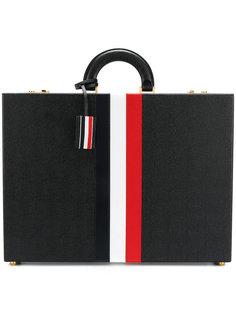 портфель с фирменными полосками Thom Browne