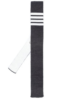 галстук с контрастными полосками Thom Browne